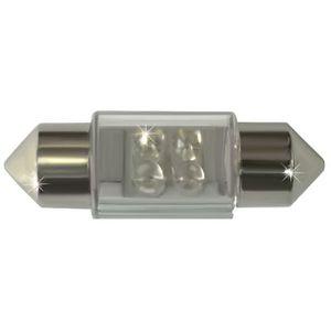 LED Light Bulbs T11x37 4 LED SV8.5-8 white amp. 24V (1pc.) Pack. 100 pieces. Lighthouse