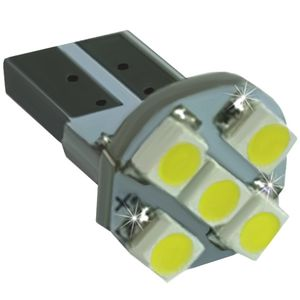 LED light bulbs T10wedge-CB white without a base, without corp. 5 LED SMD 3528, above 6300K 12V (1pc.)