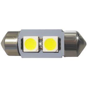 LED light bulbs T11x28-C white 2 LED SMD 5050, 6300K No. 33 11x31cm 12V (1pc.)