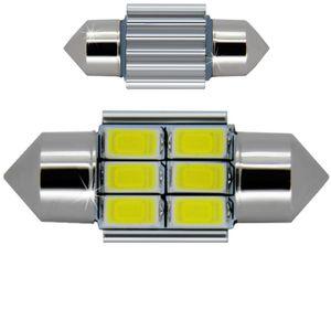 LED light bulbs T11x31-C white 6 LED SMD 5730 12x31cm CANBUS 305 lm 0.2A BI +/- 12V (1pc.)