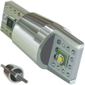 LED light bulbs T10 wedge-CB Canbus white without zinc, without cores. 2 LED 10W 2x5W LED CREE 12V V4