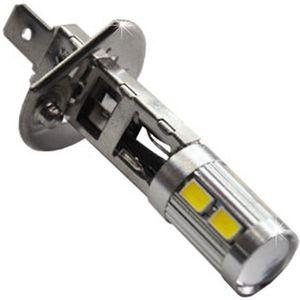 LED light bulbs H1 9 LED 8LED 5730 + 1 LED 3W CREE white 7W 6500K 320 lm 0.13A 12-24V BI +/- V4