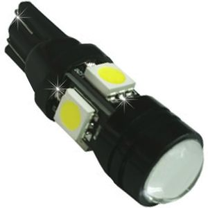 LED light bulbs T10 wedge-C2 ICE Blue without base 5 LED 4x5050 + 1x1W, 12V (1pc.) Up.100 pcs.