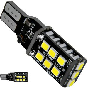 LED light bulbs T15 wedge-CB Canbus red without base 15 LED 2835 SMD ECO IC, 12V 1e
