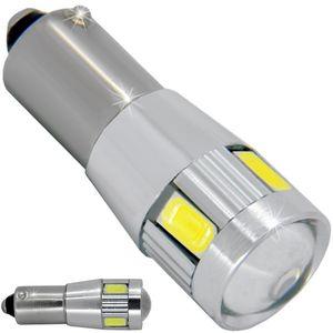 LED light bulbs T10 BA9S-CB white with base 6 LED SMD 5730 CANBUS 6300K 12V V4 (1pc.)