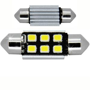 LED light bulbs T11x36-C white 6 LED 2835 SMD 3W 6x0,5W, CANBUS 450 lm 0.16A 12-24V BI +/- V3