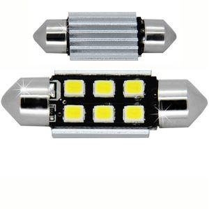 LED light bulbs T11x39 white 6 LED 2835 SMD 3W 6x0,5W, CANBUS 480 lm 0.16A 12-24V BI +/- V3