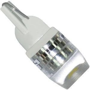 "LED light bulbs T10 wedge-C HP1 V4 white without base 1W LENS 30 ""HP 1 LED x 1,0W 2-CHIP 12V"