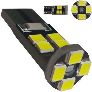 LED light bulbs T10 wedge-CB Canbus white without zinc, without cores. 12 LED SMD 2835 6300K V2