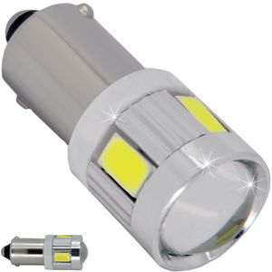 LED light bulbs T20-C 7443 white without base 2 contacts. 16 LED SMD 5730 + 1x3W 6300K 12-30B V4