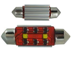 LED light bulbs T11x36-CB Canbus white 2 LED 10W SMD CREE 6IC 2x5W 12x36cm 240 lm 0.25A 12V V4