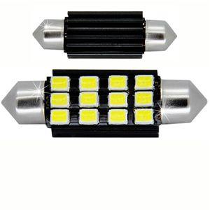 LED light bulbs T11x39 white 12 LED 2835 SMD 6W 12x0,5W 11x40cm CANBUS 400lm 0.2A 12V V3
