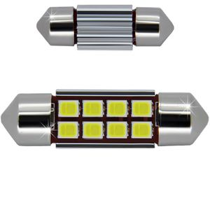 LED light bulbs T11x36 white 8 LED 3528x1 SMD 3W 8x0,5W, 12-24V BI +/- V4