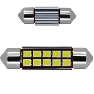 LED light bulbs T11x39 white 10 LED 3528x1 SMD 3W 10x0,5W, 12-24V BI +/- V4