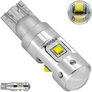 LED light bulbs T10 wedge-C HP5 white without base 25W LENS HP 5 LEDx5,0W (3 + 2) CREE 12V V3