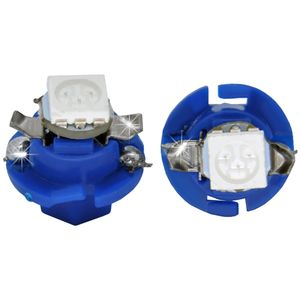 LED light bulbs B8.4d blue 1 LED 5050 SMD d-8,0 with upper contacts (with handle under the hose)