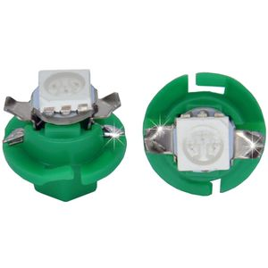 LED light bulbs B8.4d green 1 LED 5050 SMD d-8,0 with upper contacts (with handle under the answering)