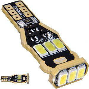 LED light bulbs T15 wedge-CB Canbus white without base 9 LED 5730 SMD IC, 6300K 12V GOLD (1pc.)