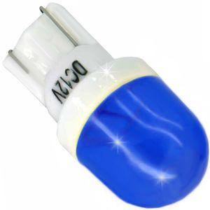 LED light bulbs T10 wedge-C2 blue without a base 2 LED SMD 5730 CERAMIC LENS 12V (1pc.)