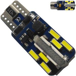 LED light bulbs T10 wedge-CB Canbus white b / c b / c 24 LED 4014 (+) 6300K lm A BI +/- 12V V95