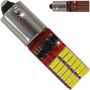LED light bulbs T10 BA9S-C2 white with base 12 LED 4014 6300K (-) lm A BI +/- 12V CAN V30