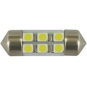 LED light bulbs T11x31-C white 6 LED SMD 3528/1210, flask, 6300K No. 12V (1pc.) V30