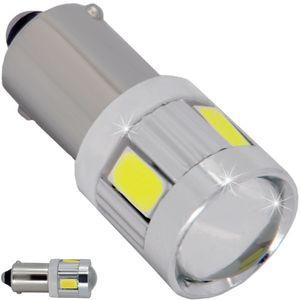 LED T10 LED bulbs BA9S-CB red with base 6 LED SMD 5730 V2 LENS ECO e1 12V