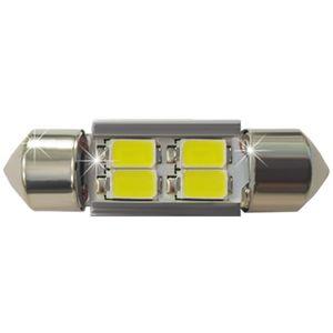 LED light bulbs T11x31-C white 4 LED SMD 5730, 6300K 10x31cm ECO CAN 12V e1 (1pc.)