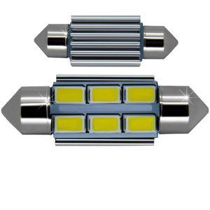 LED light bulbs T11x36-C white 6 LED SMD 5730, 6300K 12x36cm CANBUS ECO 12V e1 (1pc.)