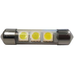LED light bulbs T11x36-C white 3 LED SMD 5050, 6300K 11x36cm 12V (1pc.)