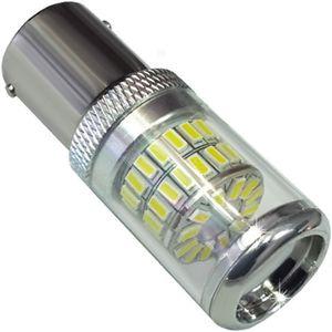 LED light bulbs T25 BA15S 1156 48 LED 3014 white sockets 1k CANBUS 14W 1450 lm 0.7A 12V BI +/- V3
