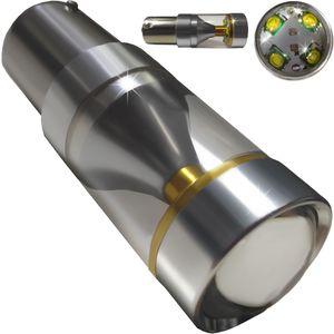 LED light bulbs T25-C BAY15D HP8 white with a base 2 contacts. 40W HP XBT 8LED x 5W (4 + 4) 12V V4