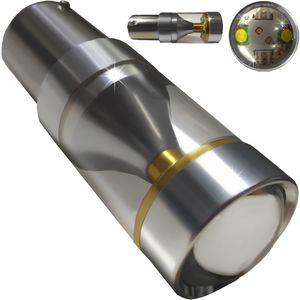 LED light bulbs T25-C BAY15D HP6 white with a base 2 contacts. 30W HP XBT 6LED x 5W (4 + 2) 12V V4