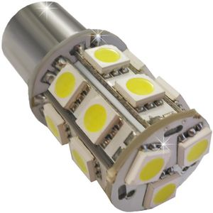 LED light bulbs T25-C2 BA15S white with base 1 contact. 13 LED SMD 5050, 6300K 24V V4 (1pc.)
