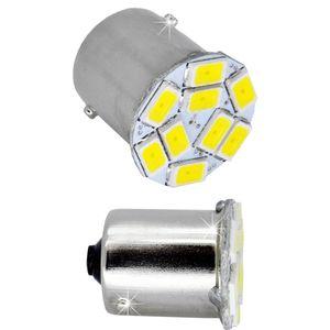 LED light bulbs T25-C BA15S white with base 1 contact. 9 LED SMD 5730 6300K 12B Economy V304 (1pcs)