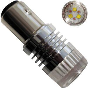 LED light bulbs T25-C BAY15D 6 LED CREE white S / c 2k 30W LENS MT 6W lm A 12-30V V3