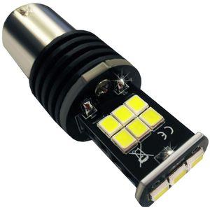 LED light bulbs T25-C BA15S white with base 1 contact 15 LED 2835 SMD HI LM IC, CAN 12-30V 4e