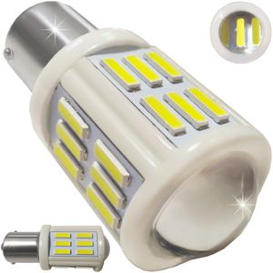 LED light bulbs T25-C BAY15D white with a base 2 contacts 27W 27 LED 7020 SMD Ceramic 6300K 12-30V