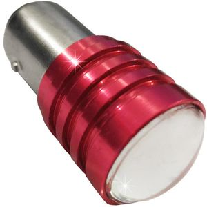 LED light bulbs T25-C BAY15D HP1 red with cap 2 contacts. 3W HP 1 LED x 3W COB 12V (1pc.)