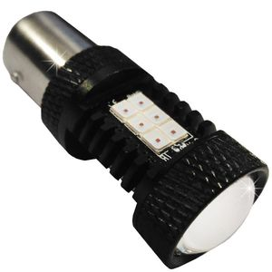 LED light bulbs T25 BAY15D 21 LED 3030 red. S / c 2k 21W LENS FLASH 2R / 10 CAN 0.5A 12V V3